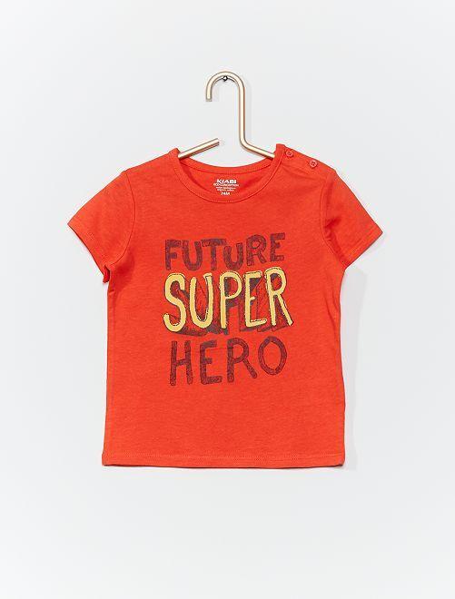 T-shirt 'éco-conçu'                                                                                                     rouge