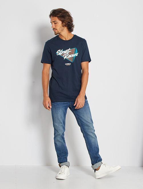 T-shirt éco-conçu 'street racers'                                                                                                                                                                                                                                                                 marine street