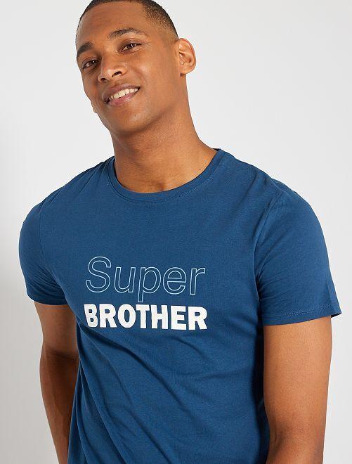 T-shirt éco-conçu 'Super Brother'                                                                                                                 bleu brother