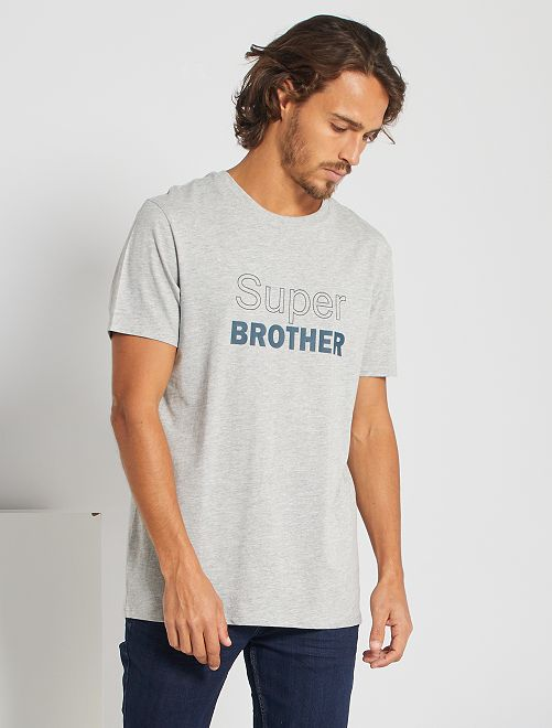 T-shirt éco-conçu 'The Boss'                                             gris brother