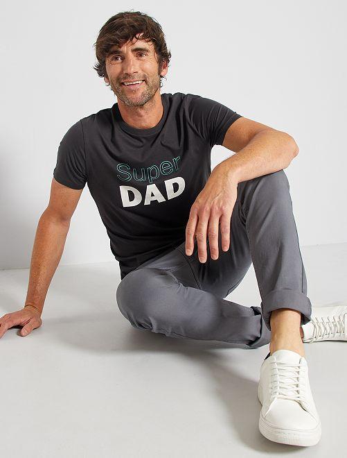 T-shirt éco-conçu 'Super Dad'                                                                                                                 gris dad