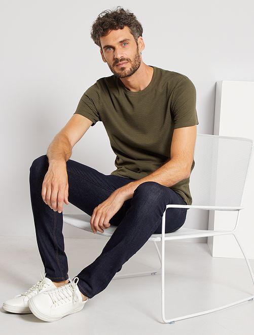 T-shirt éco-conçu texturé                                                                                         kaki