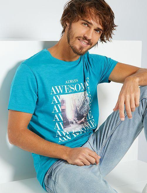 T-shirt éco-conçu                                                                                                         turquoise/awesome