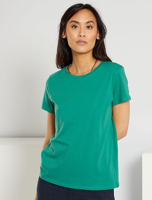T-shirt éco-conçu                                                                                                                                                                                                     vert pin