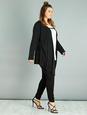 Grande taille femme - T-shirt effet 2 en 1 - Kiabi