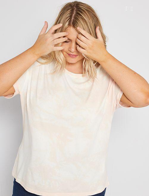 T-shirt effet délavé                                         rose clair