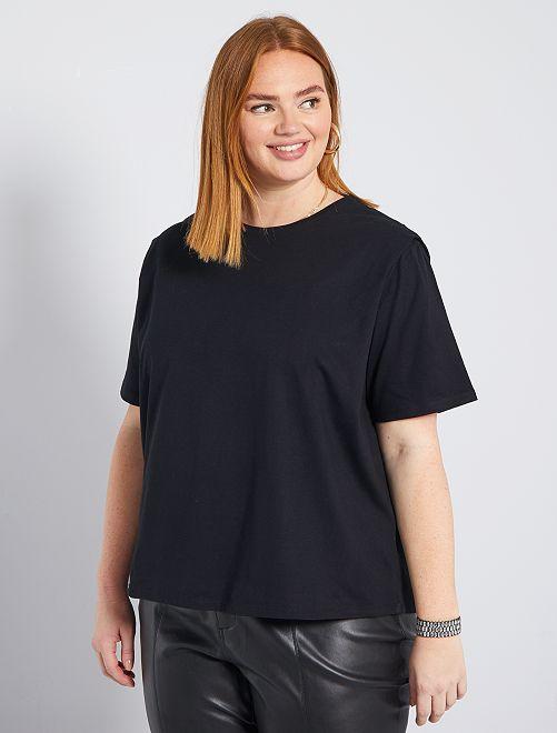 T-shirt effet épaulettes                                                                 noir