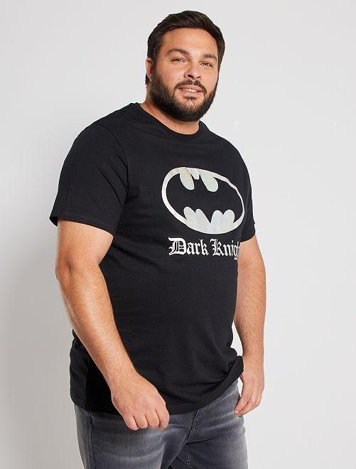 T-shirt effet métallisé 'Batman'                             noir