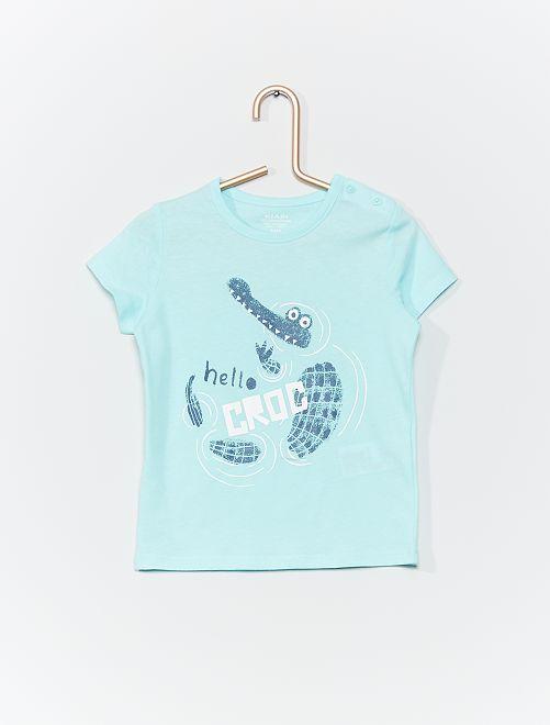 T-shirt en coton bio                                                                                                                                         bleu clair