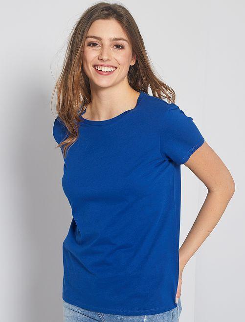 T-shirt en coton bio                                                                                                     bleu