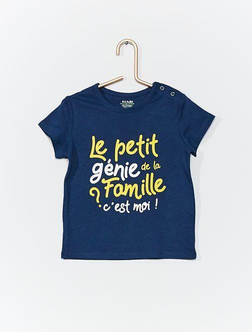 T-shirt en coton bio                                                                                                                                 bleu marine