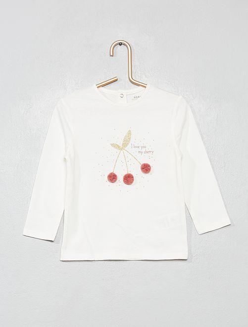 T-shirt en coton bio 'éco-conception'                                                                                         blanc