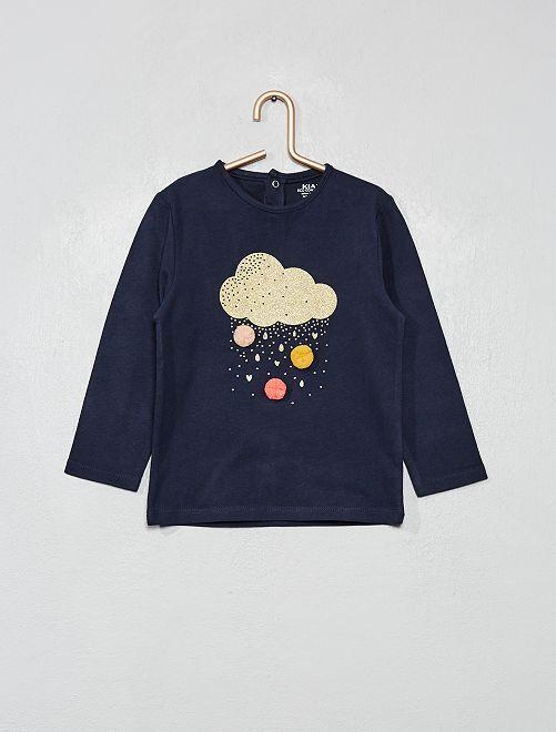 T-shirt en coton bio 'éco-conception'                                                                                         bleu marine