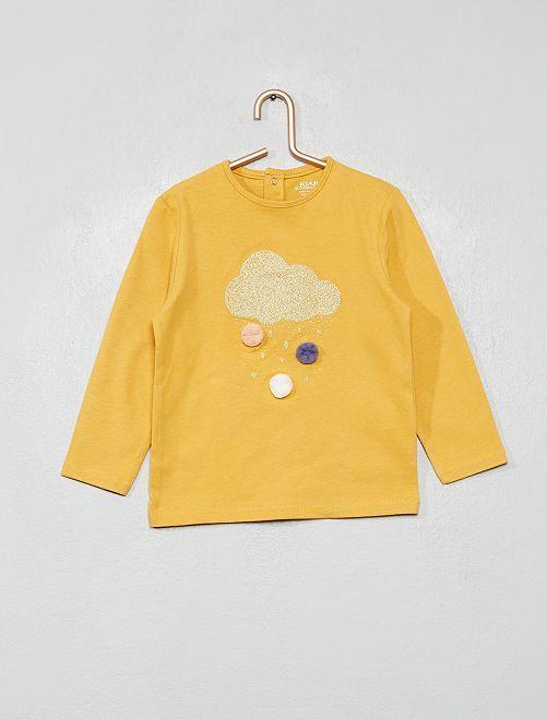 T-shirt en coton bio 'éco-conception'                                             jaune