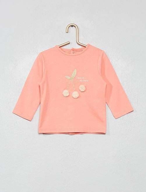 T-shirt en coton bio 'éco-conception'                                                                                         rose