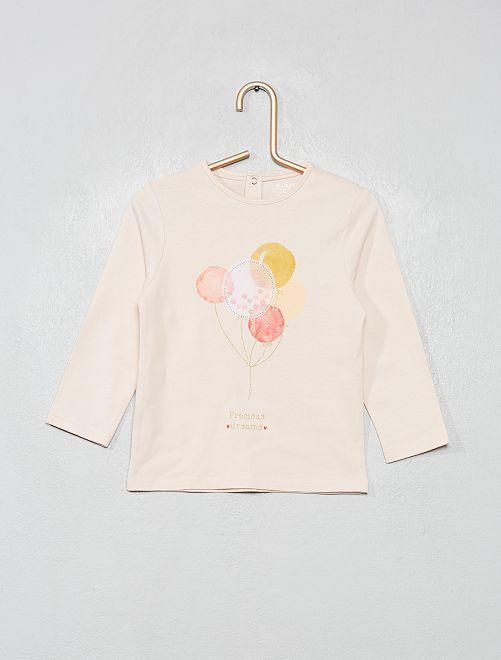 T-shirt en coton bio 'éco-conception'                                                                                         rose pâle