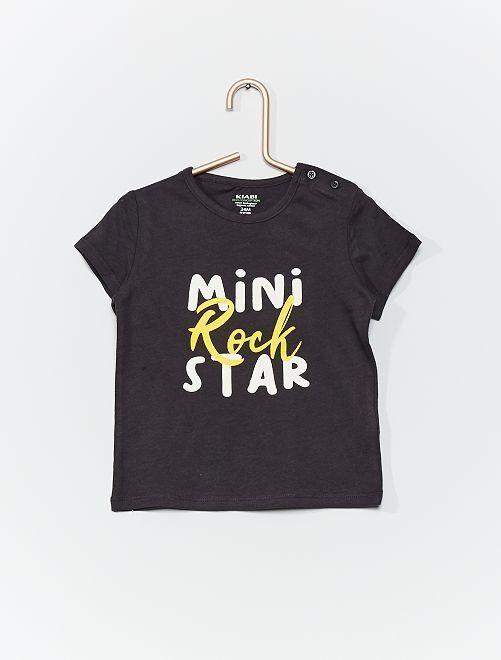 T-shirt en coton bio                                                                                                                                         gris