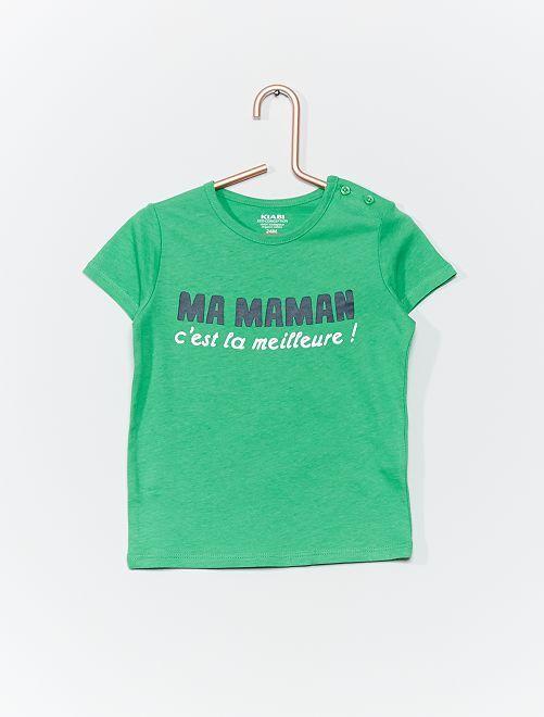 T-shirt en coton bio                                                                                                                                         vert