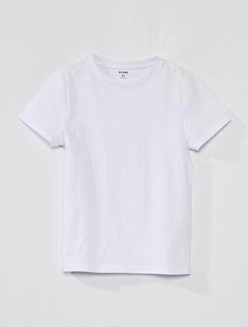 T-shirt en coton biologique                                                                                                                             blanc