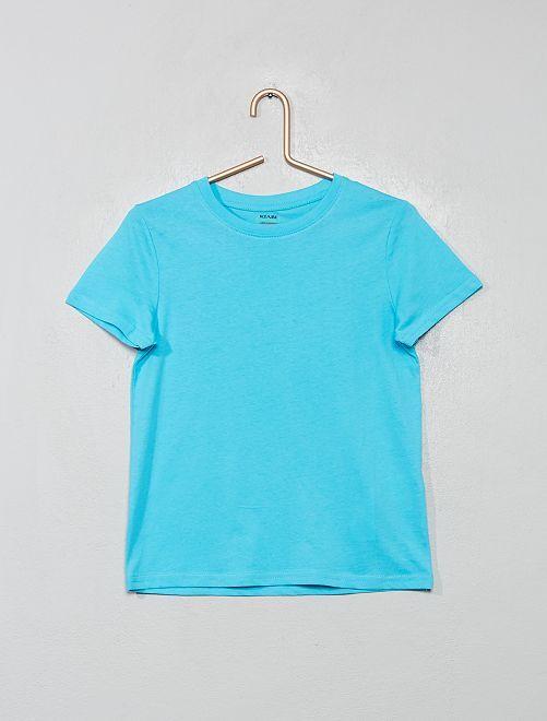 T-shirt en coton biologique                                                                                                                                                                             bleu curacao