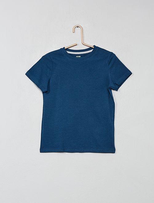 T-shirt en coton biologique                                                                                                                                                                 bleu foncé