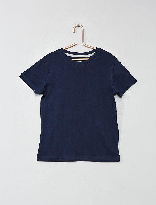 T-shirt en coton biologique                                                                                                                                                     bleu marine Garçon