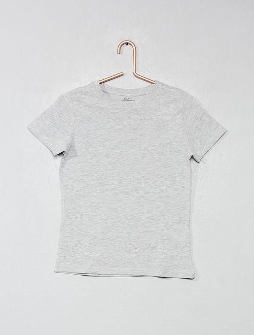 T-shirt en coton biologique                                                                                                                                                                 gris Garçon