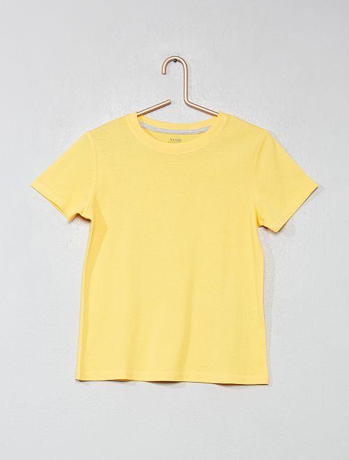 T-shirt en coton biologique                                                                                                                                                                 jaune Garçon