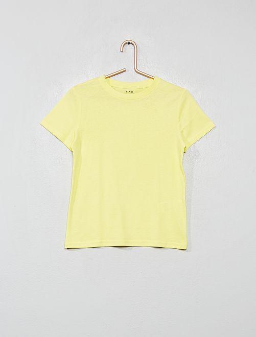 T-shirt en coton biologique                                                                                                                                                                 jaune