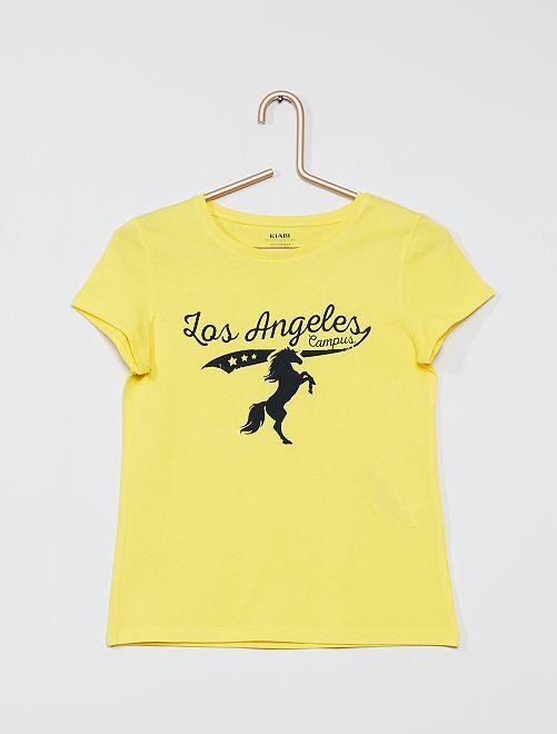 T-shirt en coton biologique                                                                                                                             jaune /los angeles