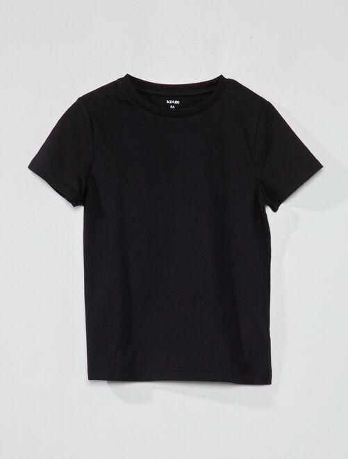 T-shirt en coton biologique                                                                                                                 noir Garçon