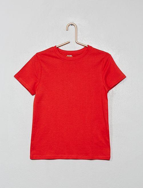 T-shirt en coton biologique                                                                                                                                                                 rouge