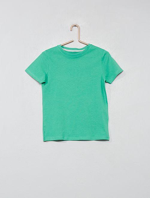 T-shirt en coton biologique                                                                                                                             vert