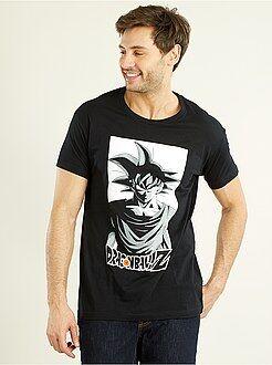T-shirt imprimé - T-shirt en coton imprimé 'Dragaon Ball Z'