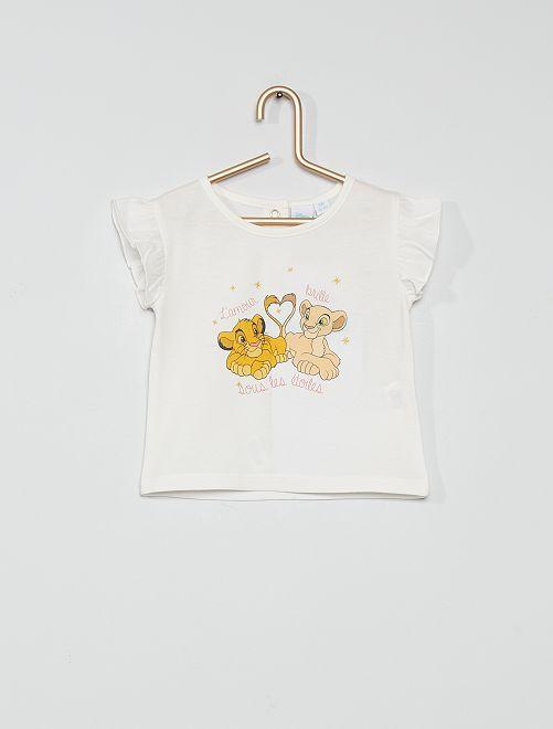 T-shirt en coton 'Le Roi Lion'                             blanc