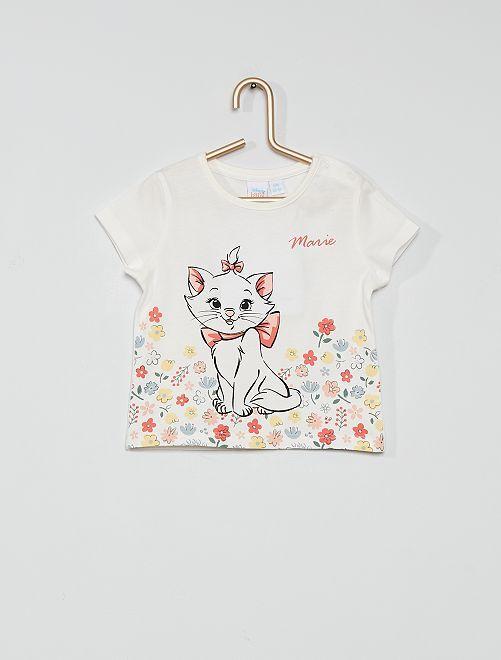 T-shirt en coton 'Les Aristochats'                             écru