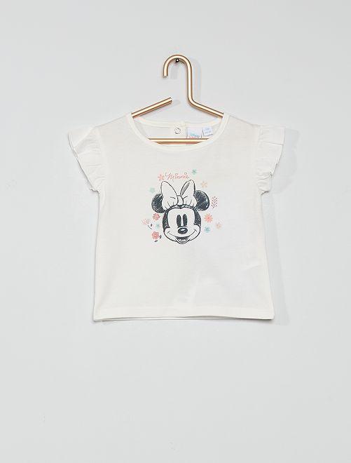 T-shirt en coton 'Minnie'                             écru