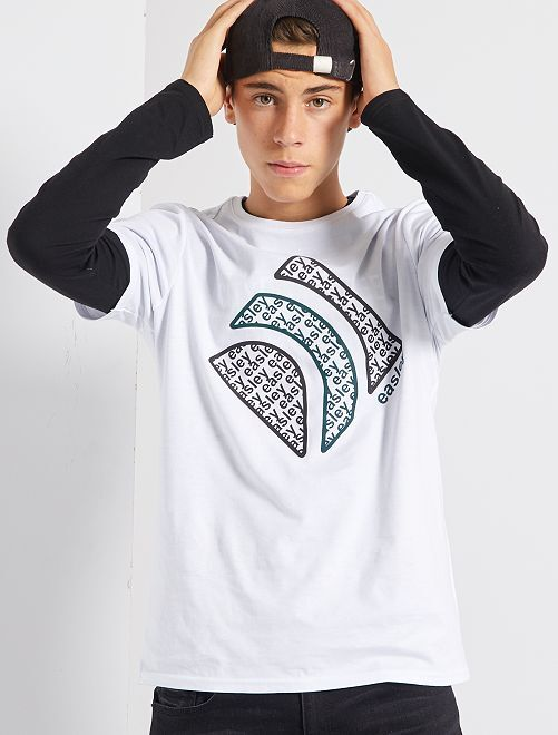 T-shirt en jersey                             blanc