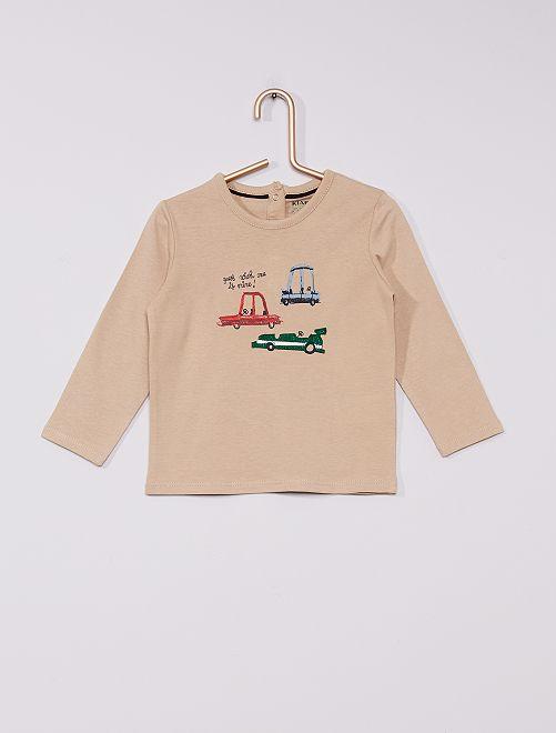 T-shirt en jersey éco-conçu                                                                 beige