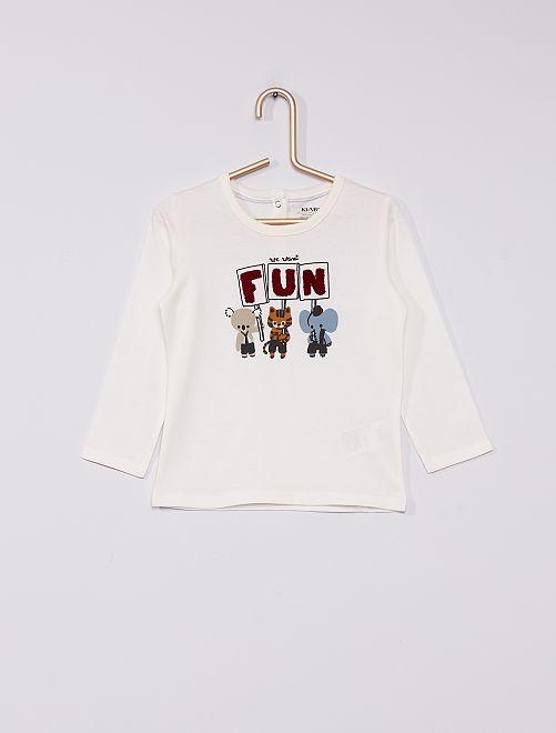 T-shirt en jersey éco-conçu                                                                 blanc