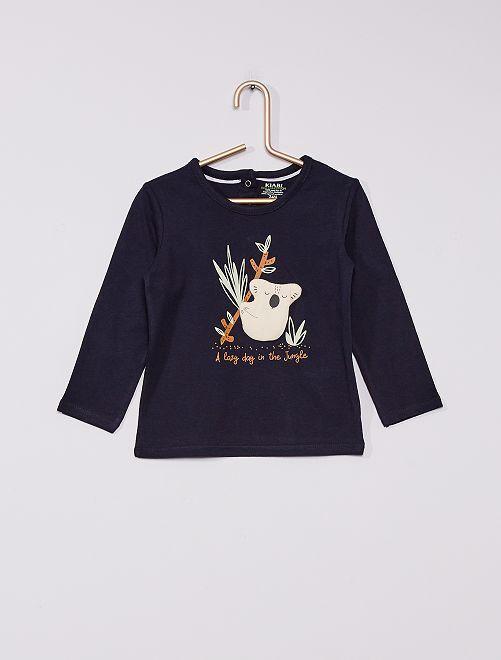 T-shirt en jersey éco-conçu                                                                 marine