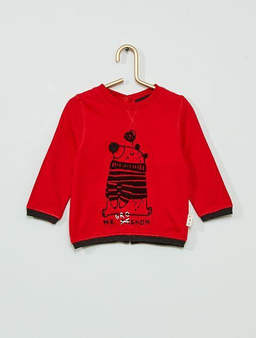 T-shirt en jersey 'éco-conçu'                             ROUGE