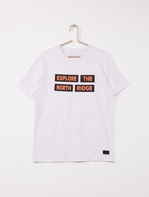 T-shirt en jersey                                         gris
