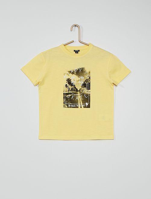T-shirt en jersey imprimé                                                                             jaune