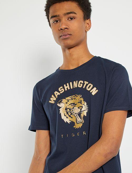 T-shirt en jersey imprimé                                                                                                                                                                 marine tigers