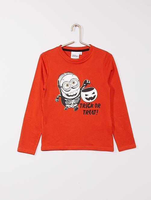T-shirt en jersey 'Les Minions' 'Halloween'                                         orange
