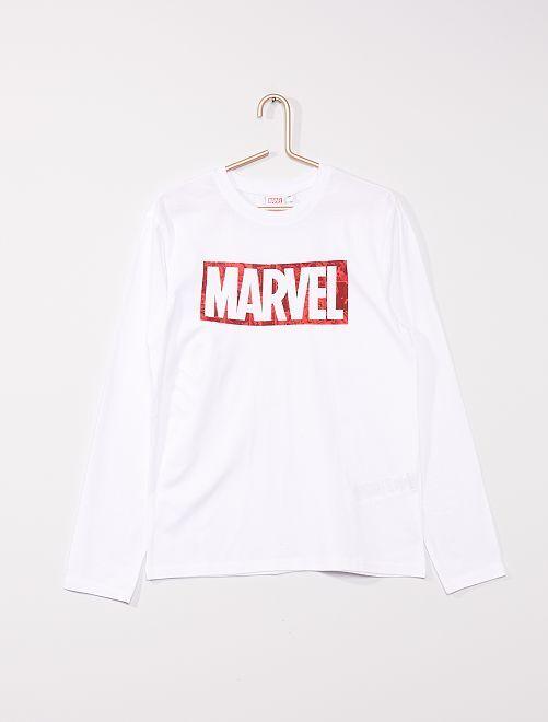 T-shirt en jersey  'MARVEL4                             blanc