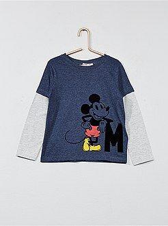 Tee shirt, polo - T-shirt en jersey 'Mickey Mouse' de 'Disney' - Kiabi
