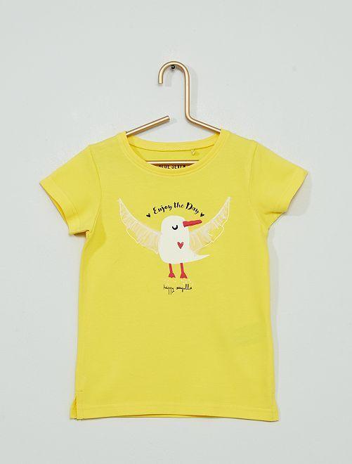 T-shirt en jersey 'mouette'                                         jaune
