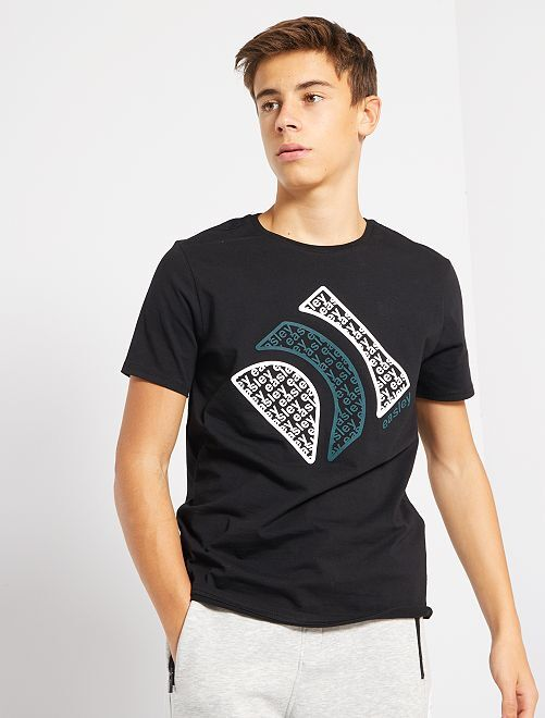 T-shirt en jersey                                         noir